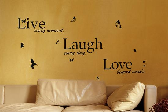 Classic Live Laugh Love Quote Wall Wall Decal by | Art.com