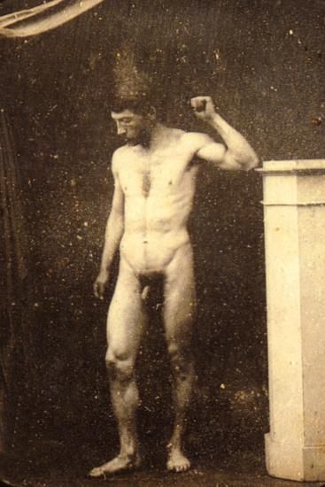 Classic Male Nude Posing, C.1910--Photographic Print