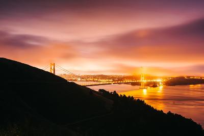 Classic Misty Golden Gate Bridge, San Francisco Cityscape-Vincent James-Photographic Print