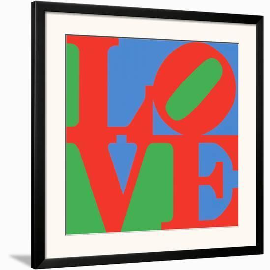 Classic Sky Love-Robert Indiana-Framed Art Print