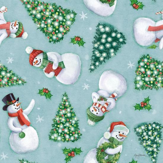 Classic Snowmen Step 01D-Mary Urban-Art Print