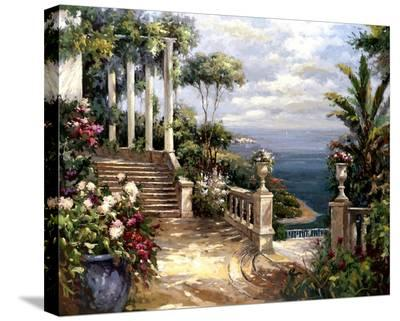 Classic Terrace View-Paline-Stretched Canvas Print