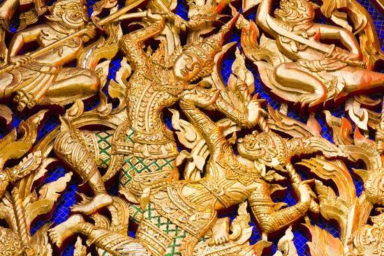 Classic Thai Art on a Temple- BugTiger-Art Print