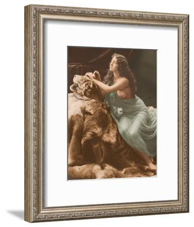 Classic Vintage French Nude - Hand-Colored Tinted Art-Louis-Ame?de?e Mante-Framed Giclee Print