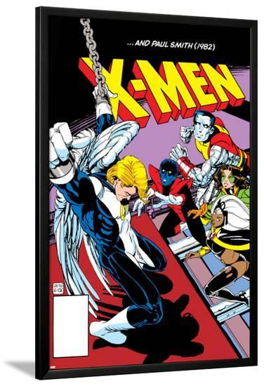 Classic X-Men No.24: Storm, Angel, Shadowcat and Colossus-Paul Smith-Lamina Framed Poster