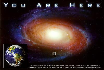 Classic You Are Here Galaxy Space Science Poster Print--Poster