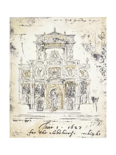 Classical Building 1-Elizabeth Jardine-Premium Giclee Print