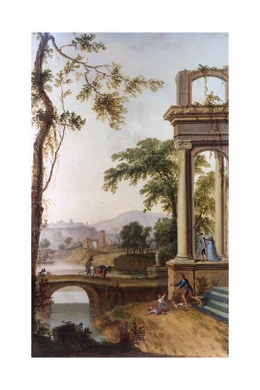 Classical Landscape-JC Jacobi-Giclee Print