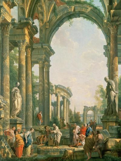 Classical Ruins-Giovanni Paolo Pannini-Giclee Print