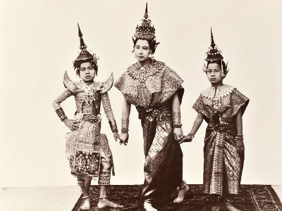 Classical Thai Dancers, C.1900-Robert Lenz-Photographic Print