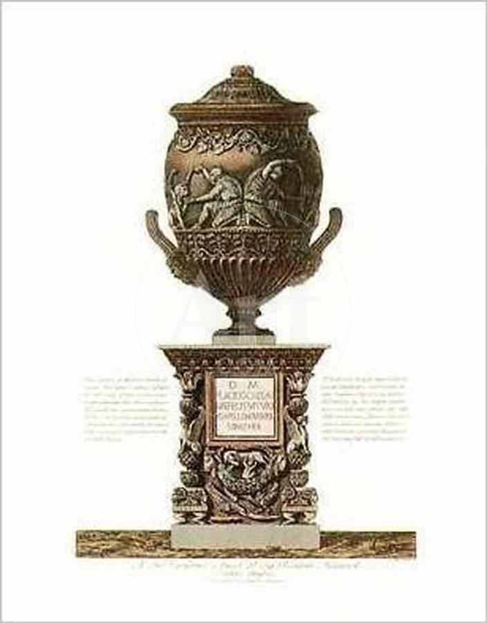 Classical Urns And Vases Art Print By Giovanni Battista Piranesi