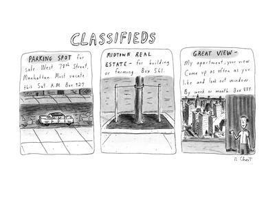 Classifieds - New Yorker Cartoon-Roz Chast-Premium Giclee Print