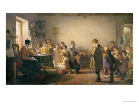 Classroom Recital-Thomas Webster-Giclee Print