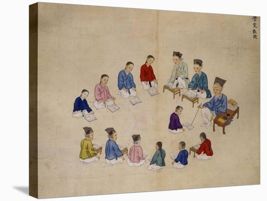 Classroom-Kim Junkeun-Stretched Canvas Print