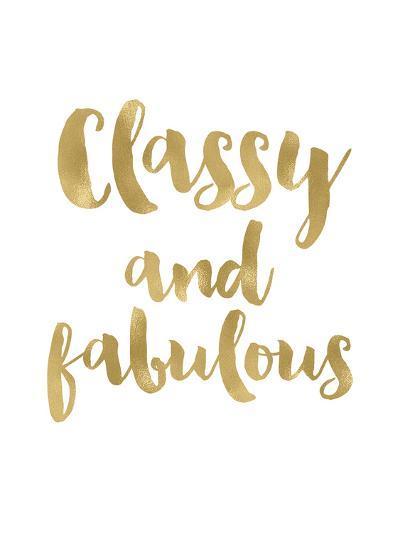 Classy Fabulous Gold White-Amy Brinkman-Art Print