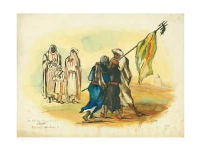 The Mad Negro Banner Bearer', Kaumur, 1873
