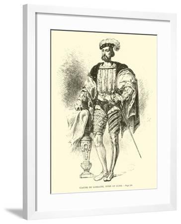 Claude De Lorraine, Duke of Guise--Framed Giclee Print