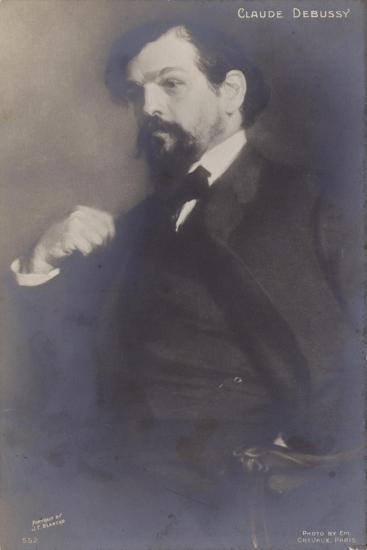 Claude Debussy, French Composer (1862-1918)-Jacques-emile Blanche-Photographic Print