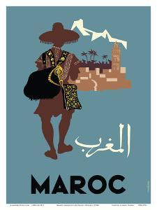 Maroc (Morocco) - Native Moroccan approaches town by Claude Fevrier