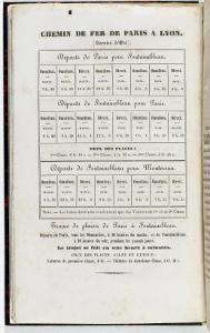 Guide du voyageur & de l'artiste à Fontainebleau: Page 4, Horaires du chemin de fer Paris-Fontaineb by Claude-Francois Denecourt