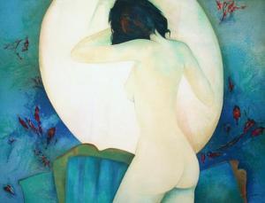 Jeune Fille au Miroir by Claude Gaveau