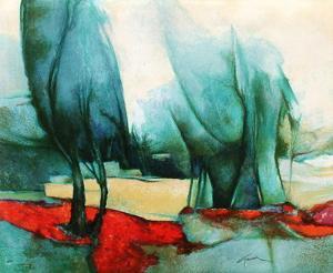 p - Les grands arbres by Claude Gaveau
