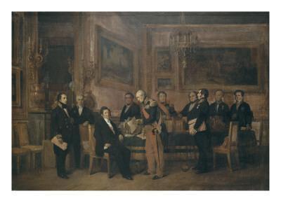 Le maréchal Soult présente à Louis-Philippe la loi de Régence, le 15 août 1842.