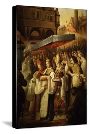 Saint Louis IX, 1214-70 King of France, Carrying Holy Relics to the Sainte Chapelle, Paris