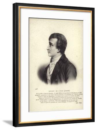 Claude Joseph Rouget De Lisle--Framed Giclee Print