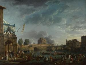 A Sporting Contest on the Tiber at Rome, 1750 by Claude Joseph Vernet