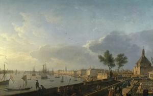 Bordeaux Harbor and the City Walls by Claude Joseph Vernet