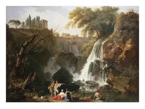 Cascade at Tivoli, Italy by Claude Joseph Vernet