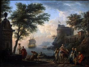 Coastal Harbour. Calm, C1763 by Claude Joseph Vernet