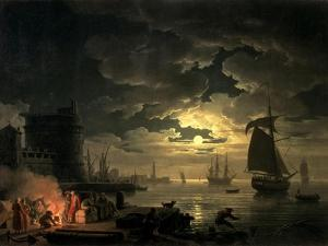 Harbor of Palermo, c.1750 by Claude Joseph Vernet
