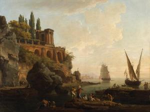 Imaginary Landscape, Italian Harbour Scene, 1746 by Claude Joseph Vernet