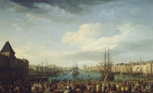 Intérieur du port de Marseille by Claude Joseph Vernet