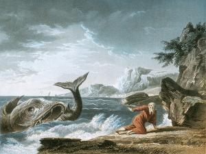 Jonah Having Been Vomited Out by the Whale onto Dry Land by Claude Joseph Vernet