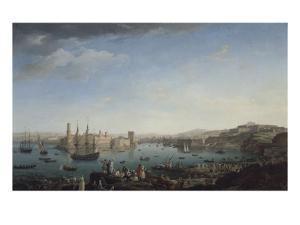 L'entrée du port de Marseille by Claude Joseph Vernet