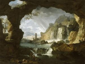 Les cascatelles de Tivoli (campagne de Rome) by Claude Joseph Vernet