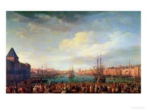 Morning View of the Inner Port of Marseille and the Pavilion of the Horloge Du Parc, 1754 by Claude Joseph Vernet