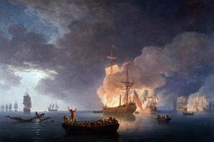 Naval Battle: Battle at the Lizard by Claude Joseph Vernet