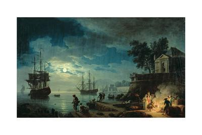 Night: a Port in the Moonlight, 1748