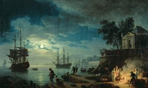 Night: a Port in the Moonlight, 1748 by Claude Joseph Vernet