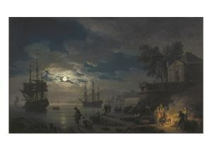 Night: a Port in the Moonlight by Claude Joseph Vernet