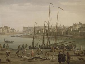 Port de Dieppe by Claude Joseph Vernet