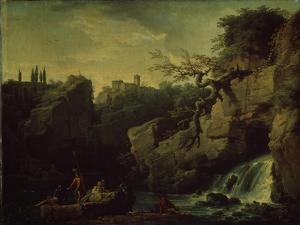 Romantic Landscape (Landscape in the Taste of Salvatore Ros), 1746 by Claude Joseph Vernet