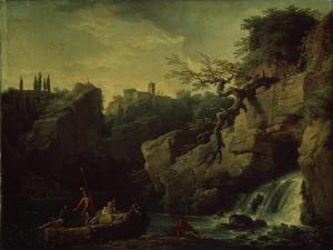 Romantic Landscape (Landscape in the Taste of Salvatore Ros), 1746 by Claude Joseph Vernet