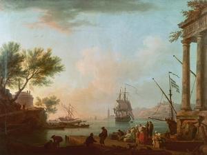 Sea Port, Sunrise, 1757 by Claude Joseph Vernet