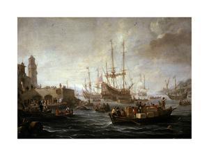 Seascape by Claude Joseph Vernet
