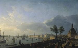 Second View of the Port of Bordeaux, Château Trumpet by Claude Joseph Vernet